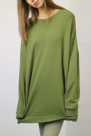 CAN PEP REY CLASSIC SWEATER JAPANESE JERSEY IN APPLE GREEN