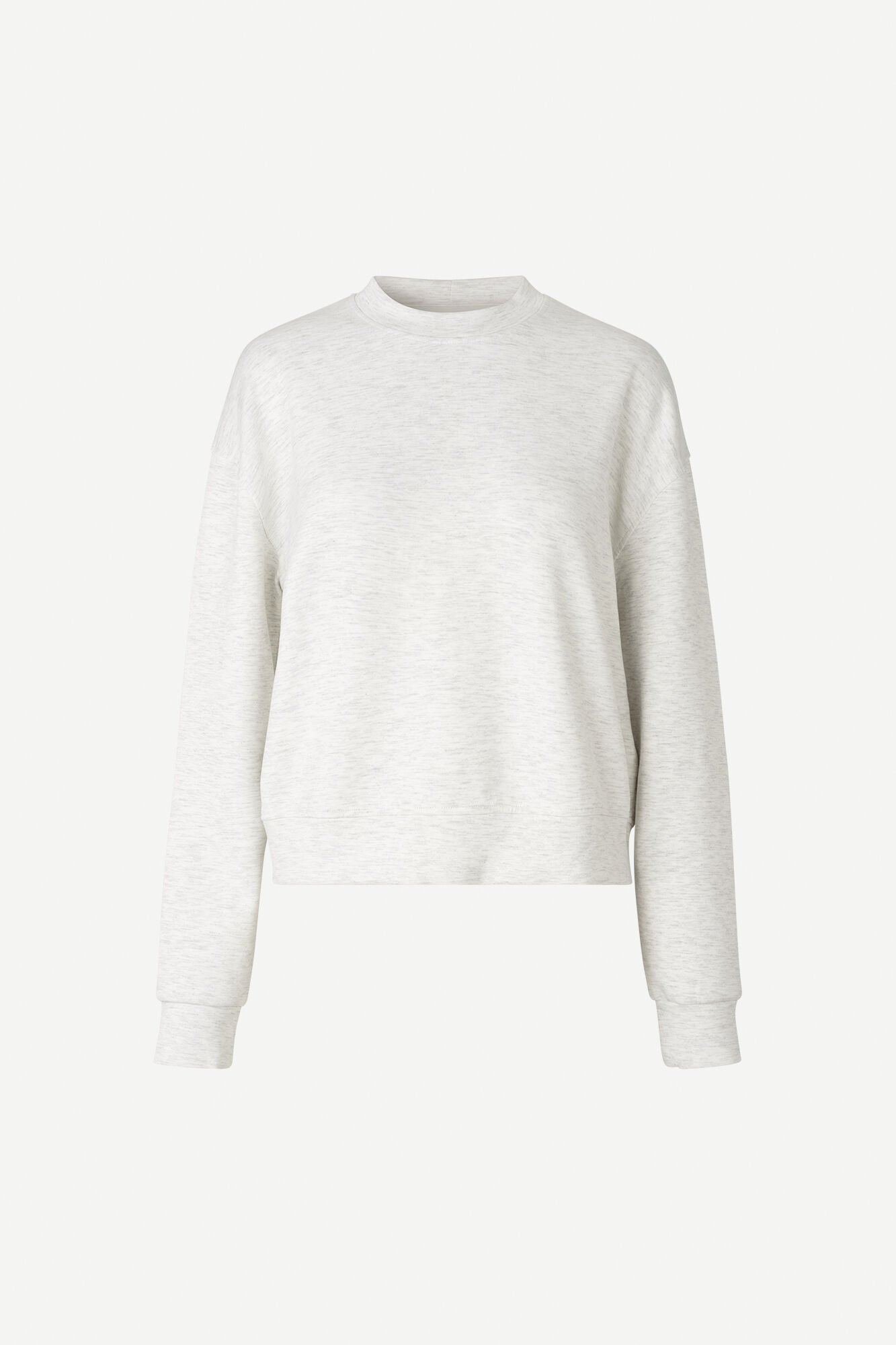 KELSEY CREW NECK IN WHITE GREY