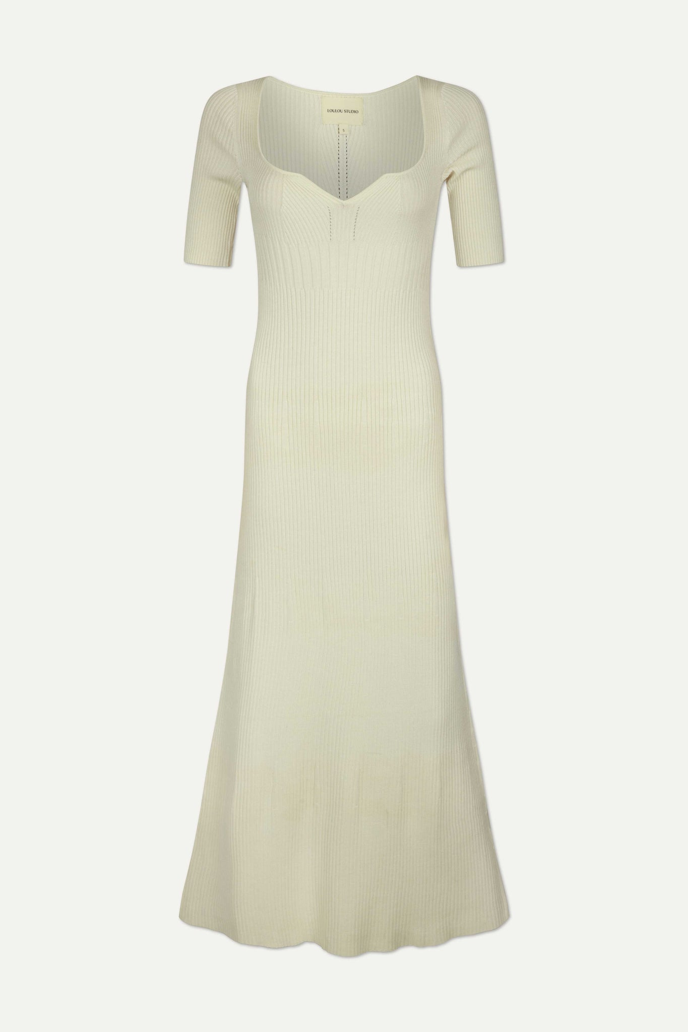CHETLAT DRESS BY LOULOU STUDIO IN IVORY