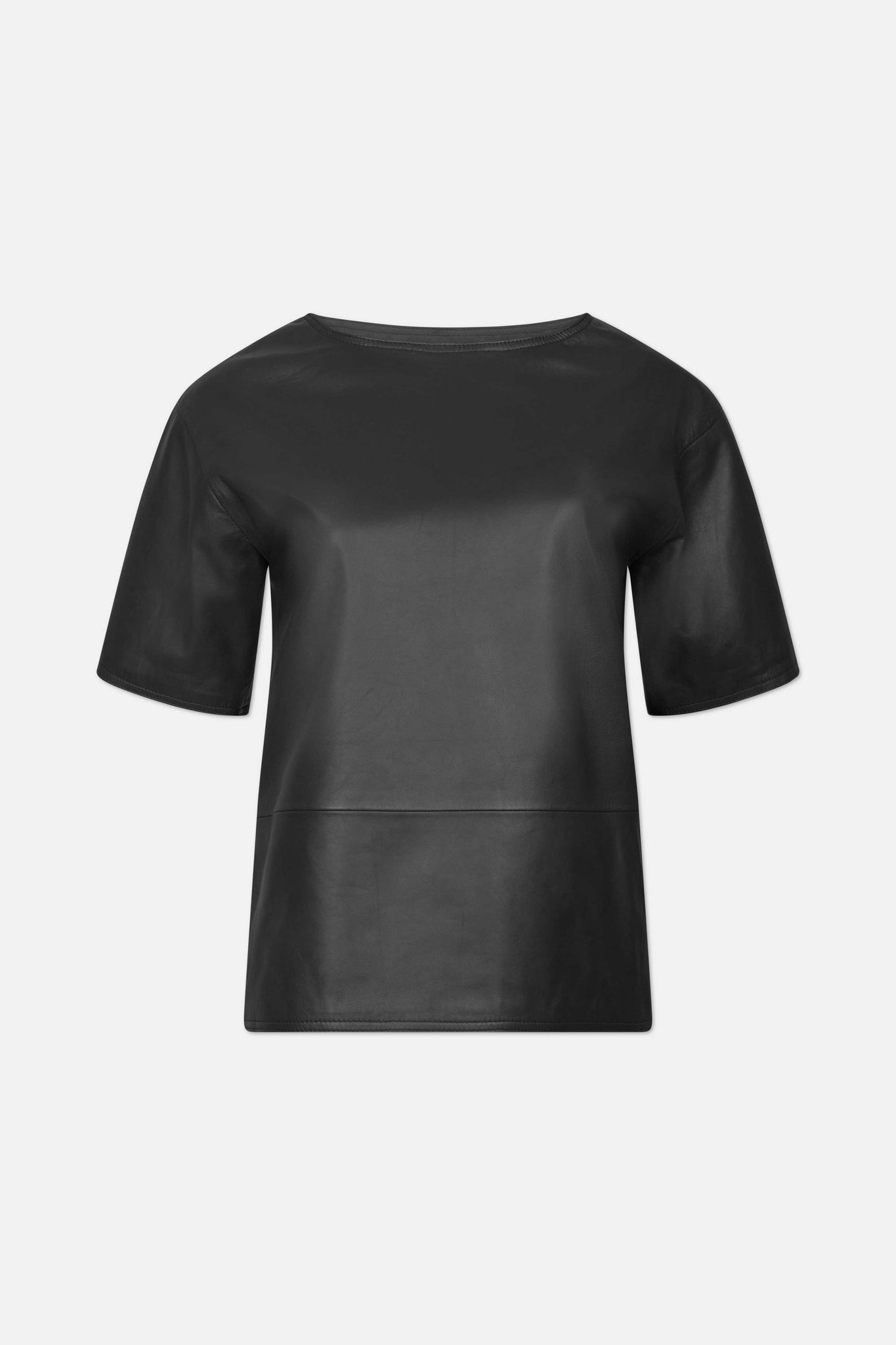 KALPENI LEATHER SHIRT BY LOULOU STUDIO IN BLACK