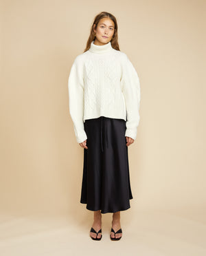RIVER CABLE KNITTED TOP BY LES COYOTES DE PARIS
