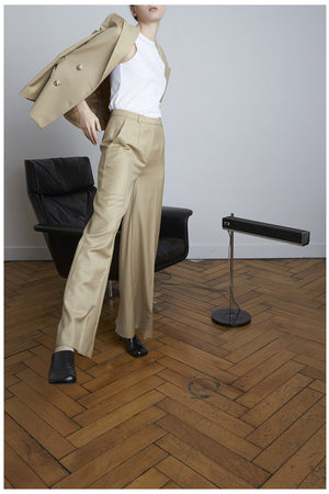 RAPA WIDE PANTS BEIGE BY LOULOU STUDIO - BEYOND STUDIOS