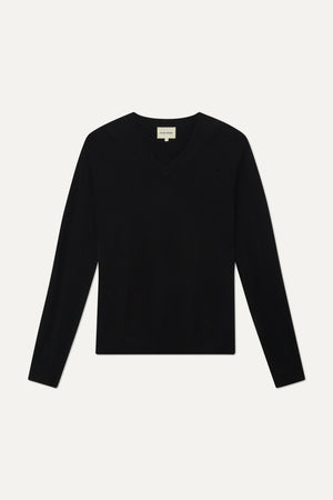 NEW SERAFINI CASHMERE V NECK BY LOULOU STUDIO