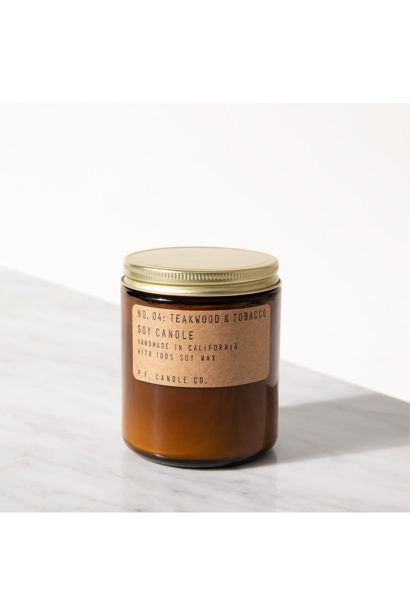 TEAKWOOD + TOBACCO SOY CANDLE - BEYOND STUDIOS