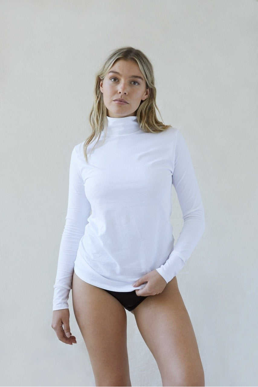THE MARGARET TURTLENECK WHITE BY THE SEPT - BEYOND STUDIOS