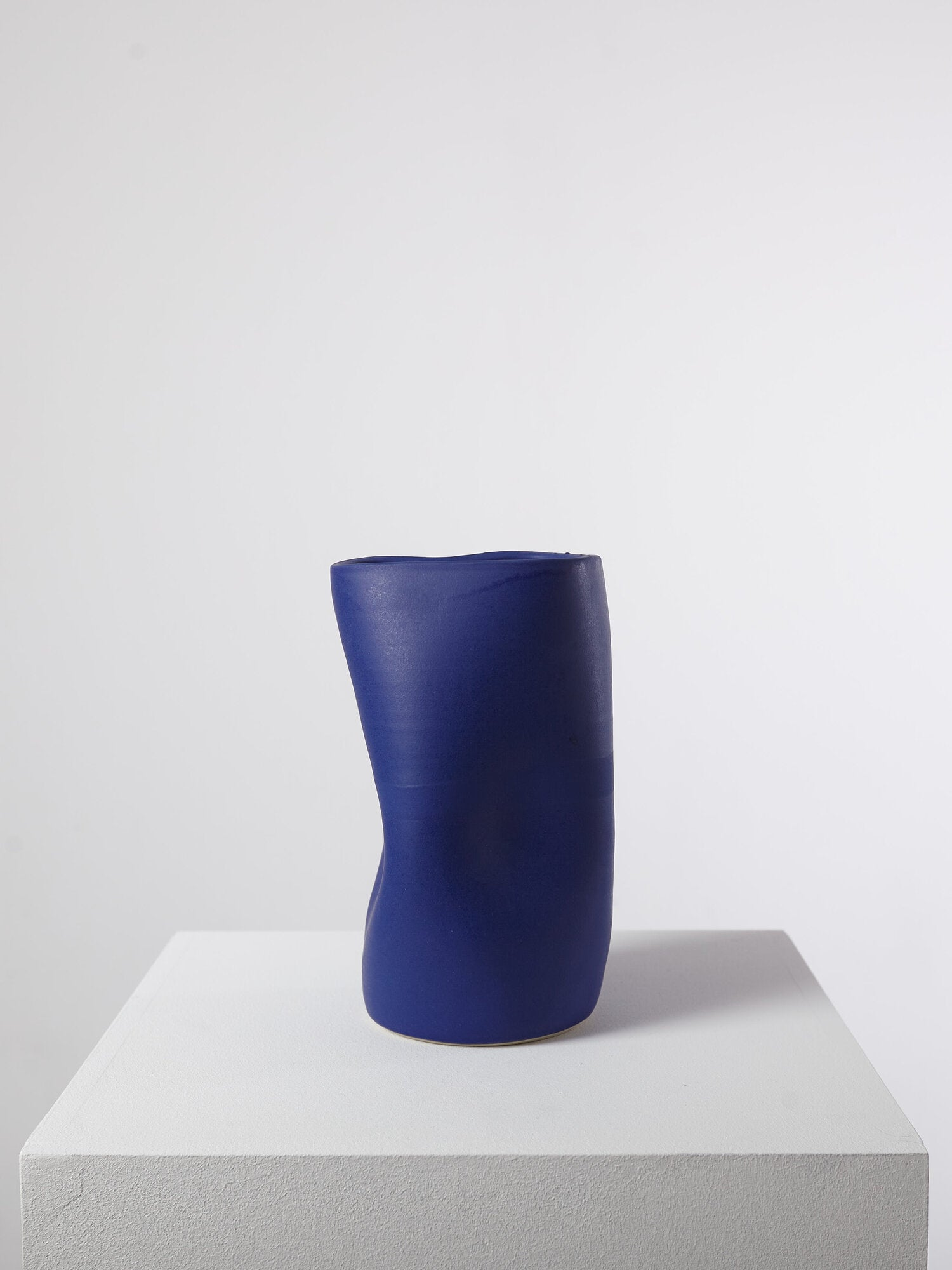 VASE DEFORMED BLUE MEDIUM BY HAP CERAMICS