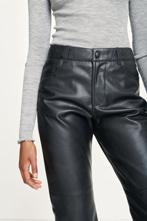 VESTINE LEATHER TROUSERS IN BLACK