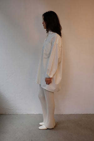 FALL WINTER SPRING SUMMER RIB KNIT PURE CASHMERE PANTS IN IVORY WHITE