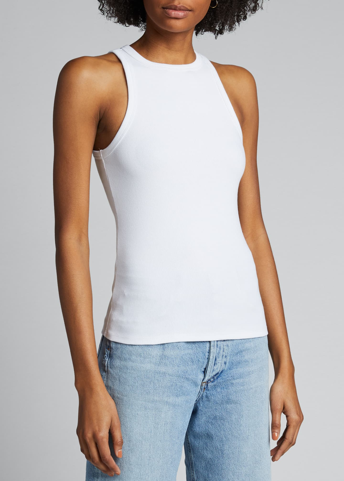 RIB TANK TOP IN WHITE BY AGOLDE