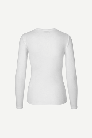 RIBBED LONGSLEEVE IN WHITE