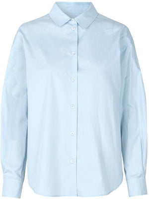 OVERSIZED COTTON SHIRT IN SKY BLUE