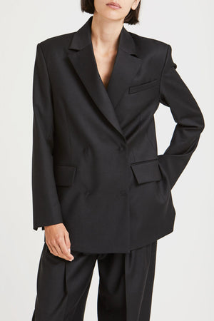 CHARLOTTE WOOL BLAZER IN BLACK BY HOUSE OF DAGMAR