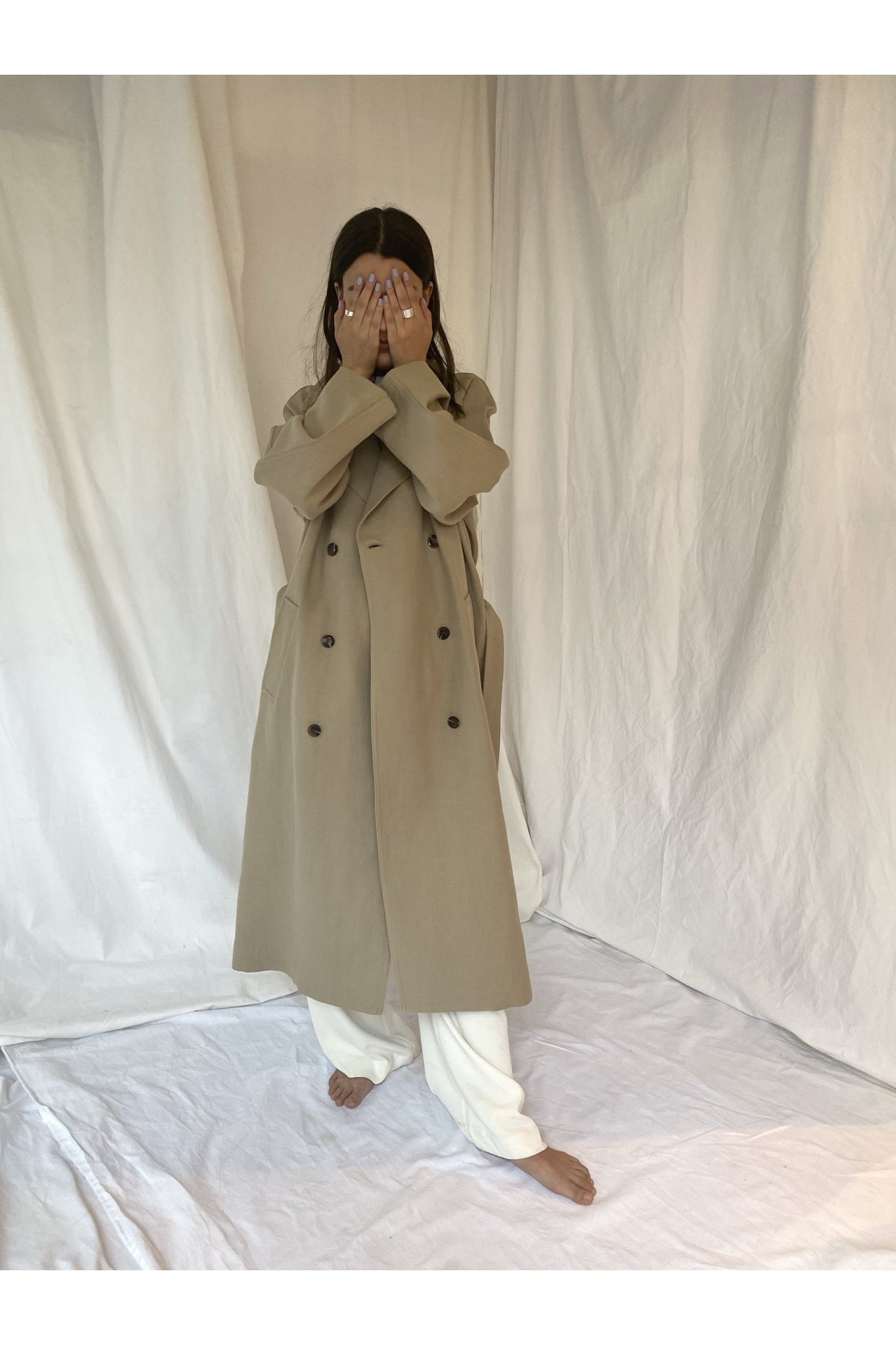 DOUBLE BREASTED TRENCHCOAT - BEYOND STUDIOS