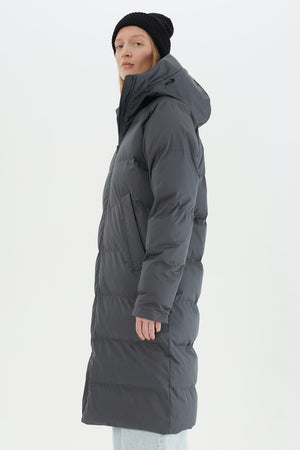 DOWN COAT IN GRAPHITE BY SHU