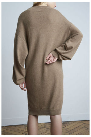 GAMBIER CASHMERE DRESS OVERSIZED SAFARI BY LOULOU STUDIO - BEYOND STUDIOS