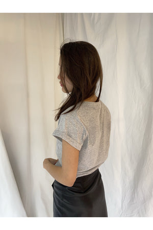 PERFECT ROLLED SLEEVES SHIRT IN GREY - BEYOND STUDIOS