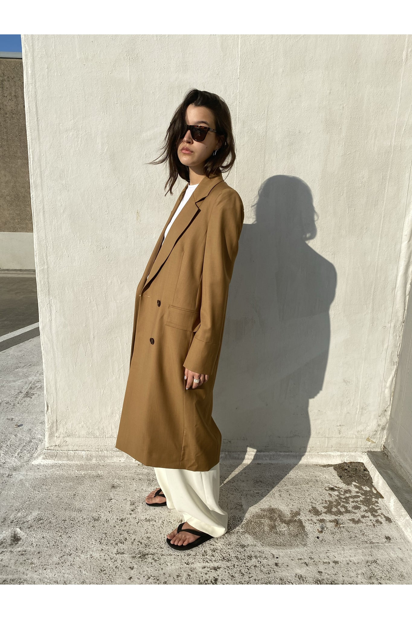 AUSTIN COAT IN CAMEL BY ENVELOPE - BEYOND STUDIOS
