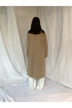 CLEAN MAXI COAT BEIGE - BEYOND STUDIOS