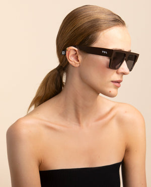 TOL EYEWEAR LAZER SUNGLASSES IN PURE CHOCOLAT - BEYOND STUDIOS