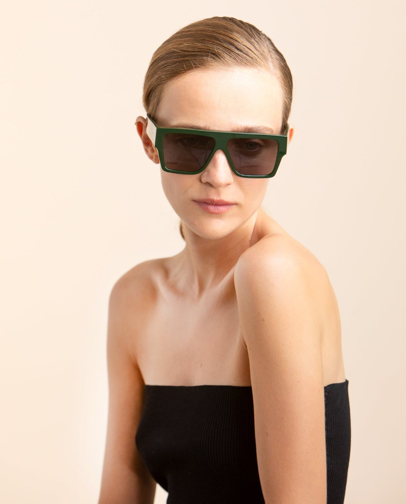 TOL EYEWEAR LAZER SUNGLASSES IN LODGE GREEN - BEYOND STUDIOS