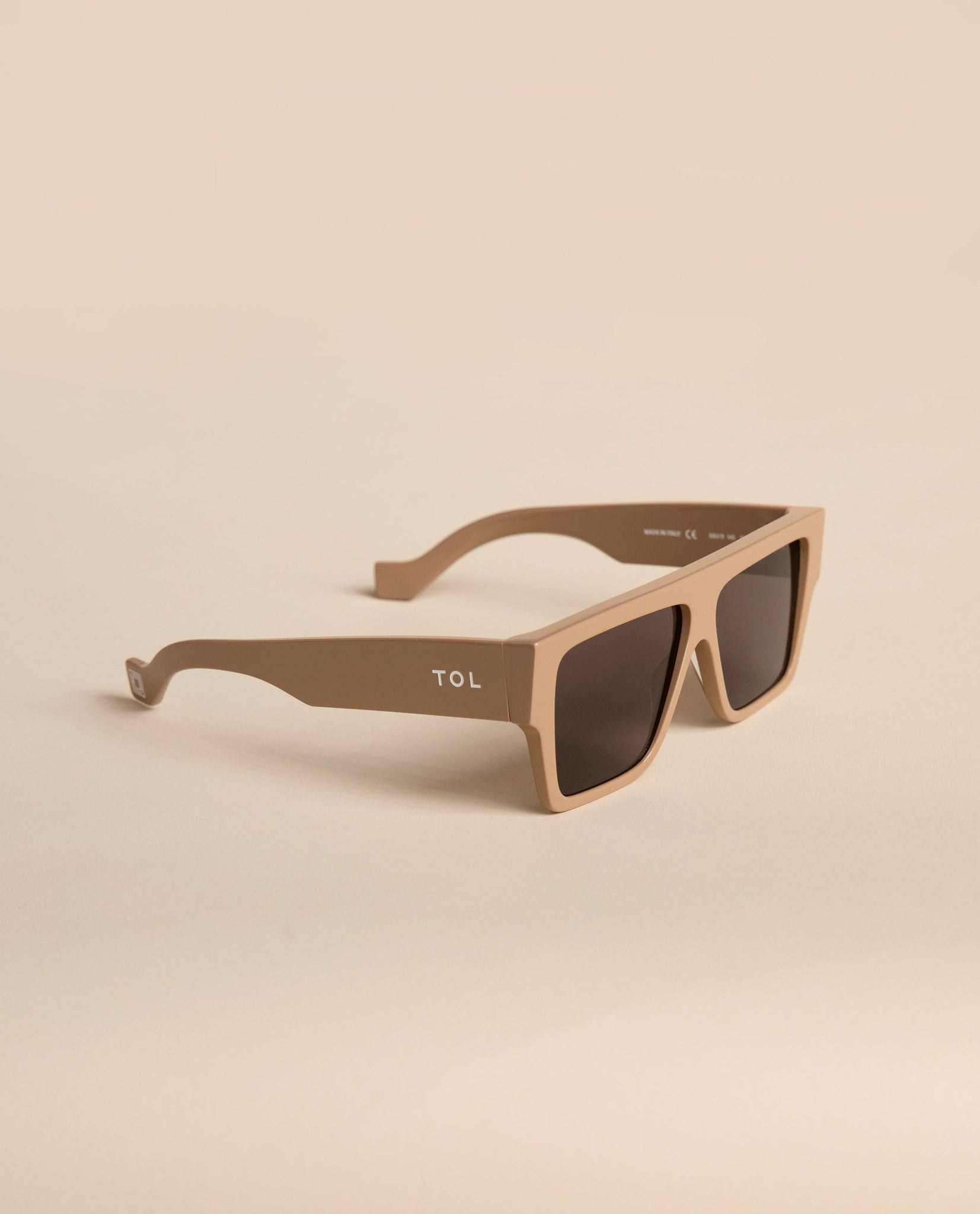TOL EYEWEAR LAZER SUNGLASSES IN NUDE - BEYOND STUDIOS