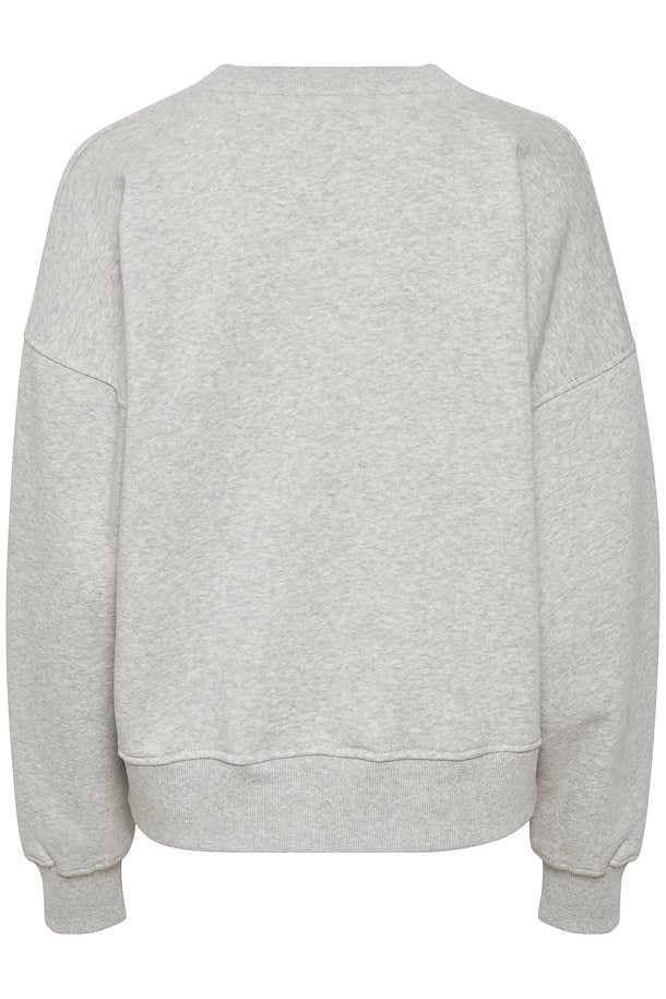 OVERSIZED SWEATER IN HEATHER GREY BY GESTUZ
