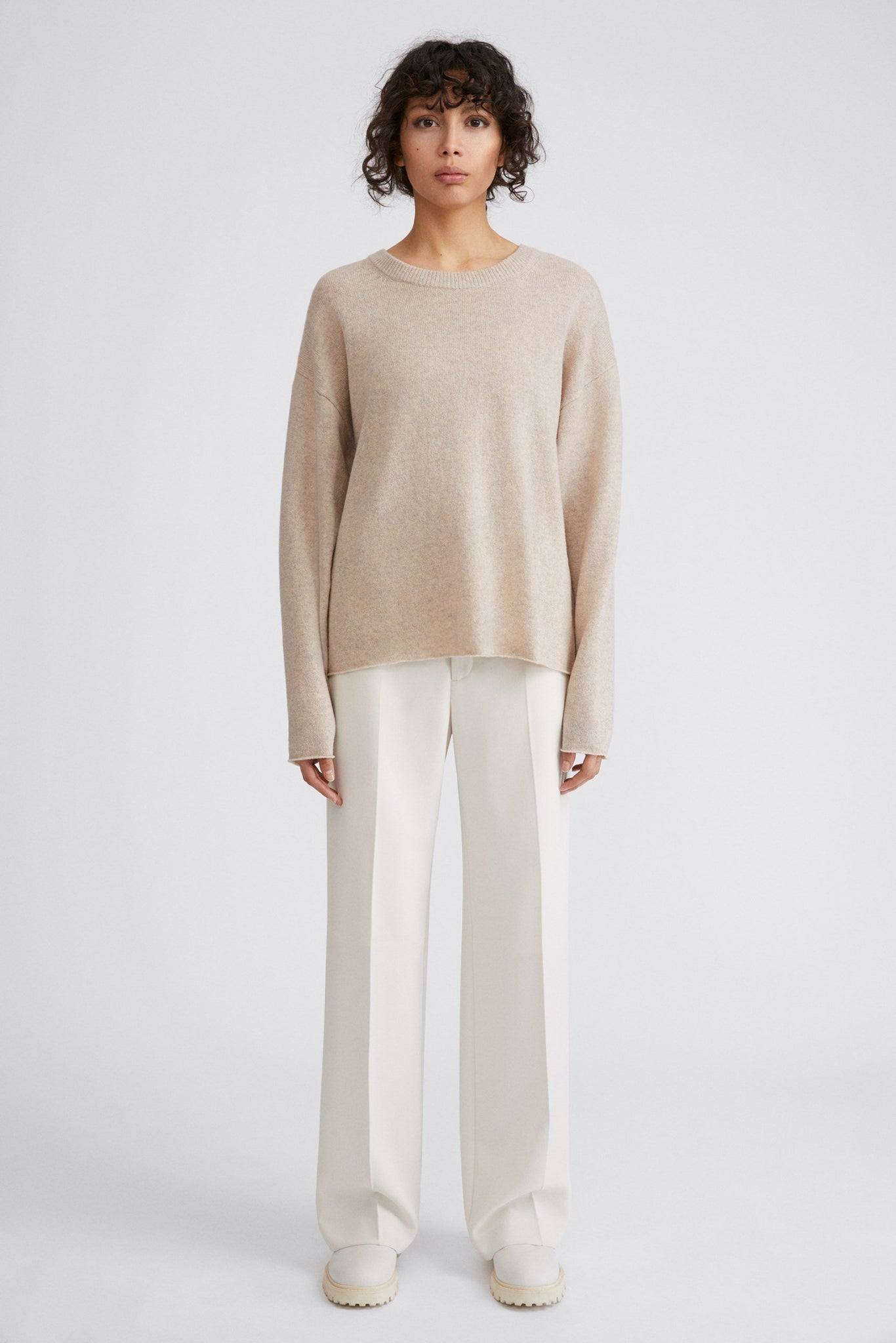 FILIPPA K LINA SWEATER IN SAND BEIGE MELANGE