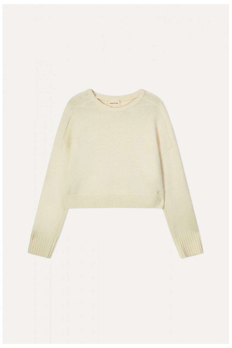 CASHMERE WOOL OVERSIZED CROPPED SWEATER IVORY BY LOULOU STUDIO - BEYOND STUDIOS