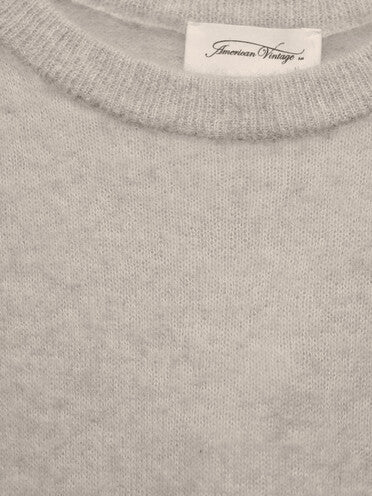 KNITTED SWEATER IN POLAR WHITE