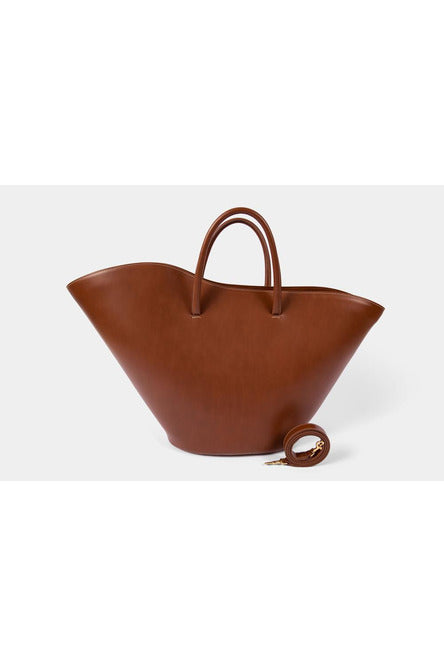 OPEN TULIP TOTE LARGE LIGHT BROWN BY LITTLE LIFFNER - BEYOND STUDIOS