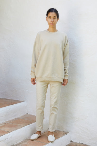 CLASSIC UNISEX SWEATER JAPANESE JERSEY IN GRAVEL BY CAN PEP REY