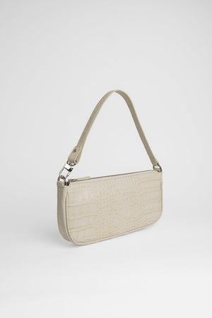 BY FAR RACHEL CREAM COCO EMBOSSED LEATHER