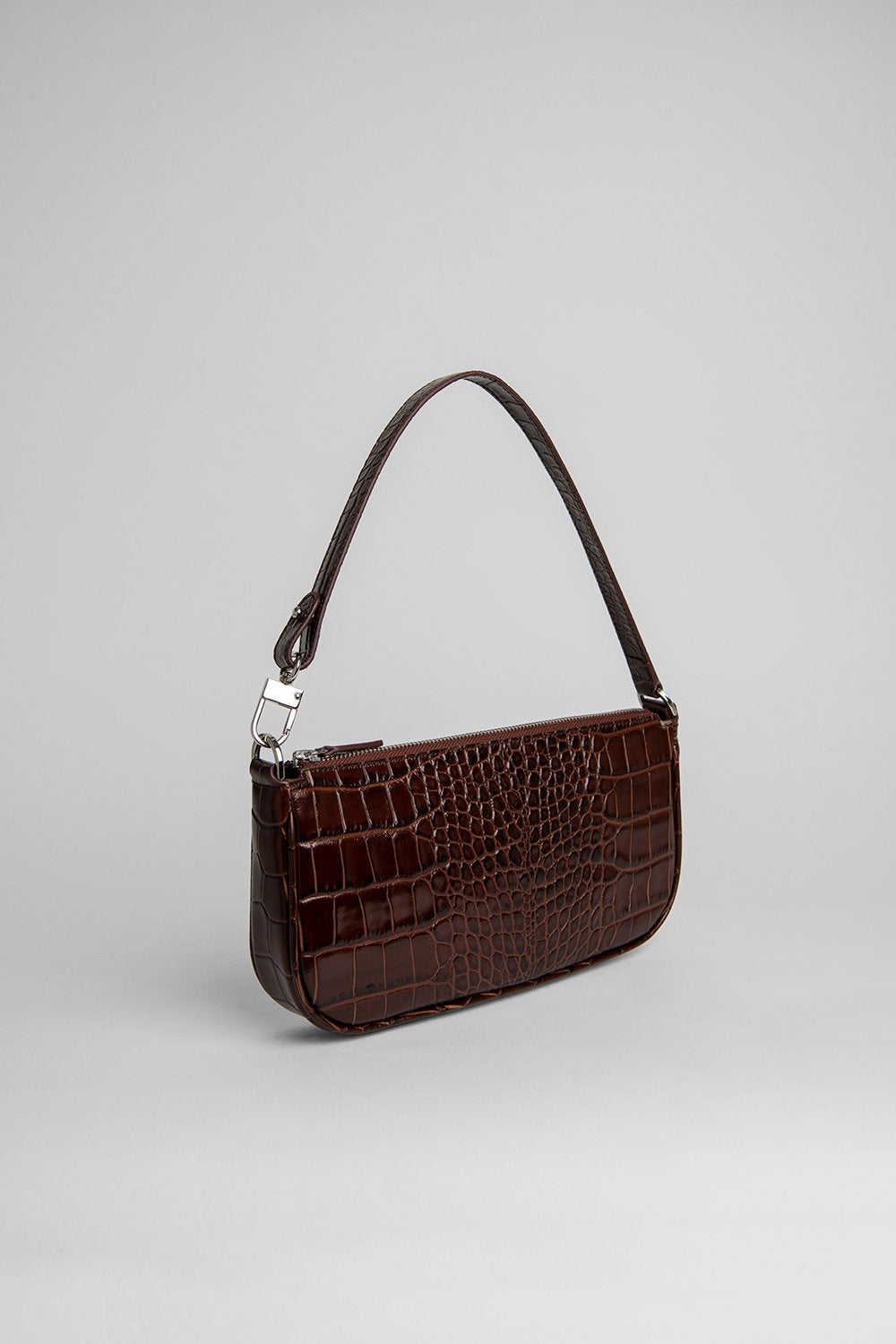 BY FAR RACHEL NUTELLA CROCO EMBOSSED LEATHER