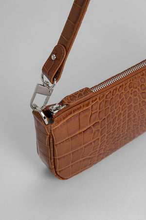 BY FAR RACHEL TAN CROCO EMBOSSED LEATHER