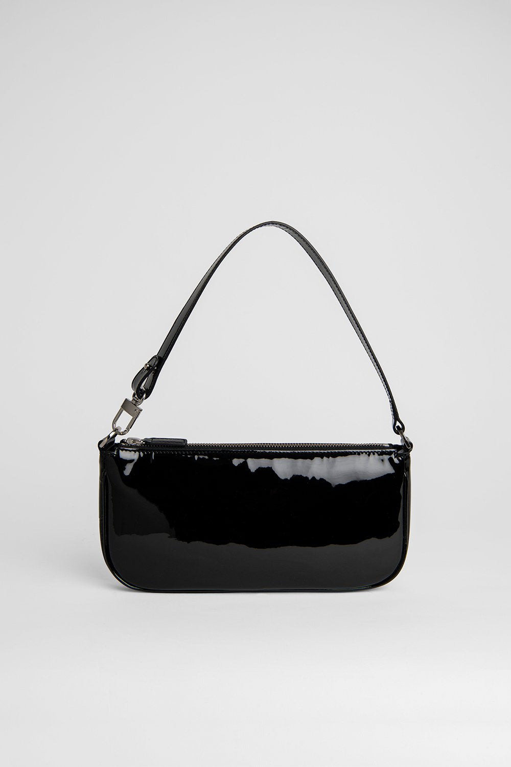 BY FAR RACHEL BLACK PATENT LEATHER