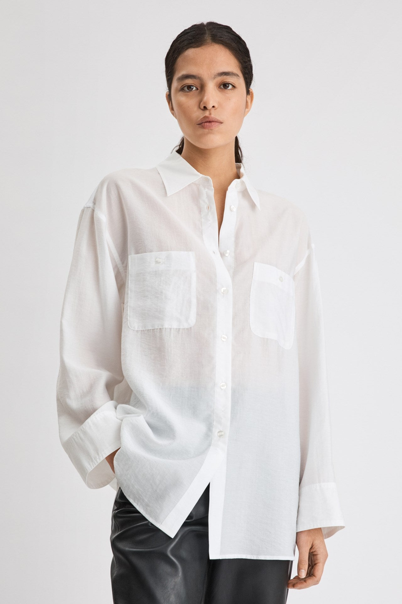 FILIPPA K SANDIE SHIRT WHITE
