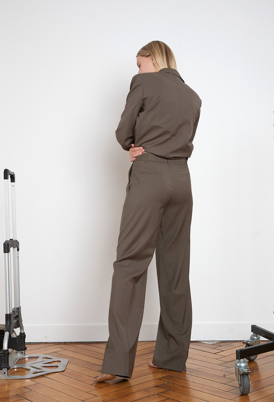 SBIRU WOOL PANTS BY LOULOU STUDIO