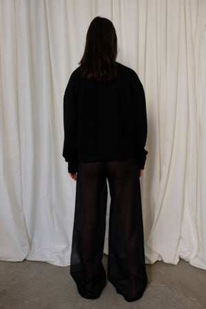 SEE THROUGH WIDE LEG PANTS BY AERON