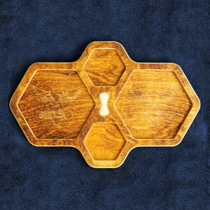 Hex Tray, Brown