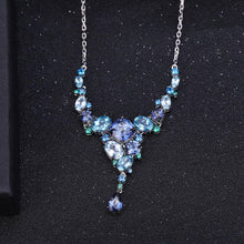Load image into Gallery viewer, Stunningly Unique Hand-crafted Sterling Silver Gemstone Necklace Fine Jewelry - ROYANI Fashion & Jewellery