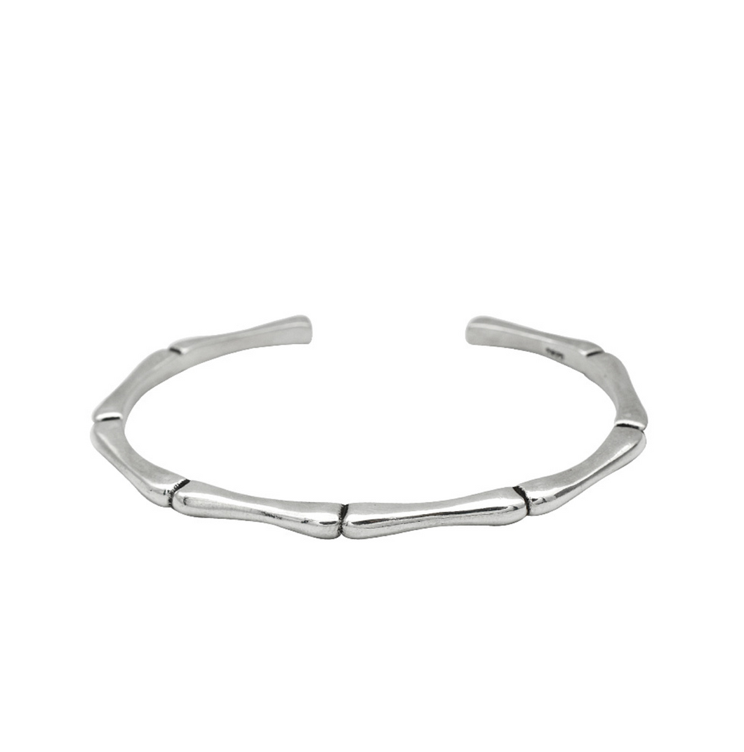 ROYANI Unisex Sterling Silver Solid 925 Cuff Bangle for men, women and couple - ROYANI Fashion & Jewellery
