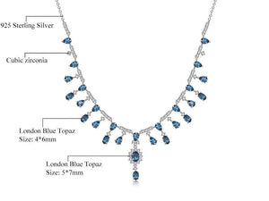 Swiss Topaz and Sterling Silver Banquet Vintage Court Necklace