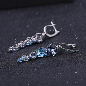 Stunningly Unique Hand-crafted Sterling Silver Gemstone Earring Fine Jewelry - ROYANI Fashion & Jewellery
