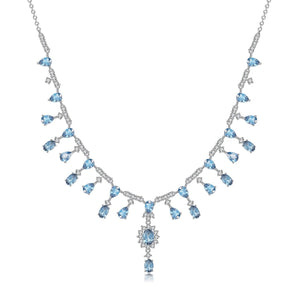 Swiss Topaz and Sterling Silver Banquet Vintage Court Necklace - ROYANI Fashion & Jewellery