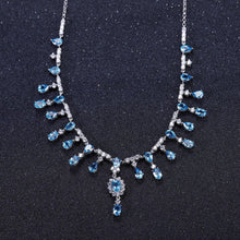 Load image into Gallery viewer, Swiss Topaz and Sterling Silver Banquet Vintage Court Necklace