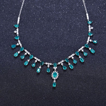 Load image into Gallery viewer, Swiss Topaz and Sterling Silver Banquet Vintage Court Necklace - ROYANI Fashion & Jewellery