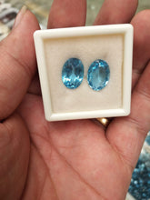 Load image into Gallery viewer, Swiss Blue Topaz Gemstone Loose Stone Oval 10x14mm - per pcs - ROYANI Fashion & Jewellery