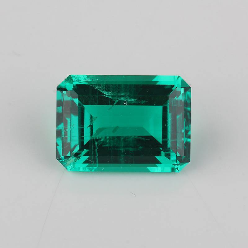 Hydrothermal Synthetic Emerald Octagon Step Cut Loss stone - ROYANI Fashion & Jewellery