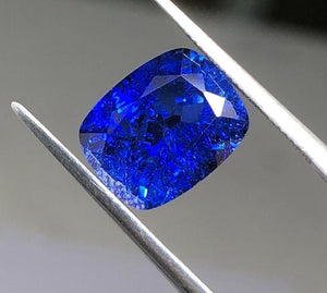 Synthetic Sapphire Loose Stone Antique Cushion shape Emerald-Cut - ROYANI Fashion & Jewellery