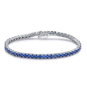 ROYANI Created Ruby Sapphire Topaz Tennis Bracelet for Women solid 925 Sterling Silver Jewelry January Birthstone Romantic Wedding Fine Jewelry - ROYANI Fashion & Jewellery